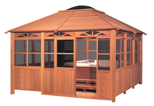 Cal design timberline gazebo servin spokane and coeur d for Cal spa gazebo